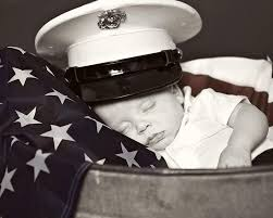 Infant Draped in flag